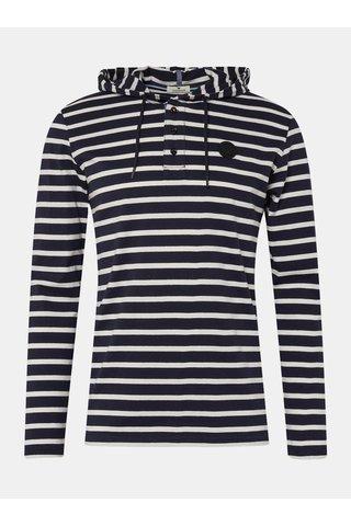 Tmavě modré pánské pruhované tričko s kapucí Tom Tailor
