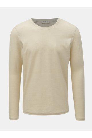 Béžové tričko Selected Homme James
