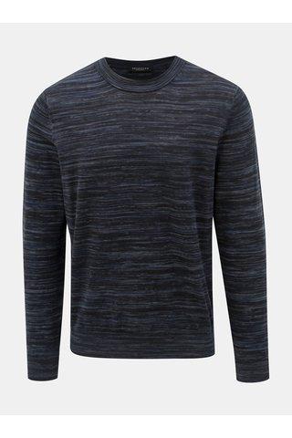 Tmavě modrý žíhaný svetr Selected Homme Carl