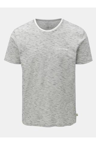Světle šedé pruhované modern fit tričko Quiksilver