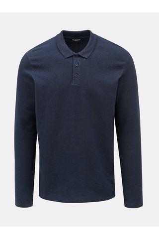 Tmavě modré polo tričko Selected Homme Wave