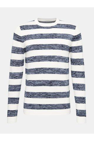 Modro-bílý pánský pruhovaný svetr Tom Tailor Denim