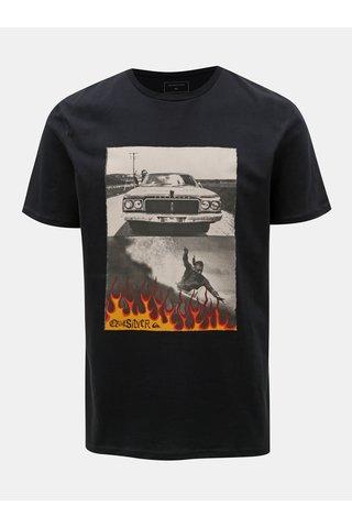 Černé modern fit tričko s potiskem Quiksilver