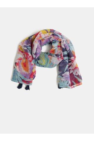 Fialovo-modrý květovaný šátek Pieces Sibanna