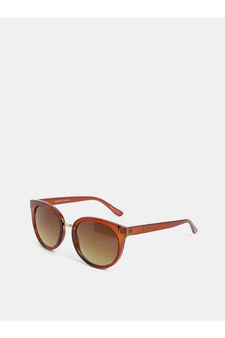 Hnědé sluneční brýle Pieces Betty