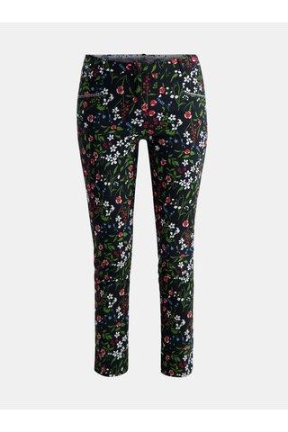Černé květované zkrácené kalhoty Blutsgeschwister Chouchou de Paris