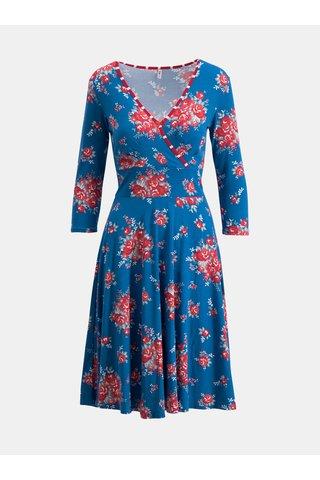 Modré květované šaty Blutsgeschwister Falleri Fallera