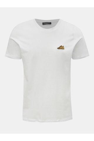 Bílé tričko s výšivkou Selected Homme Chunky