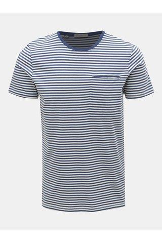 Modro-bílé pruhované tričko s kapsou Selected Homme Tim