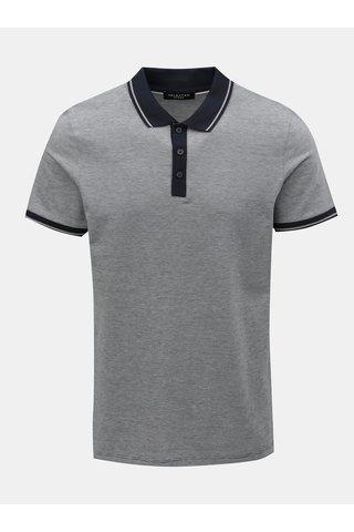 Tmavě modré žíhané polo tričko Selected Homme Joe