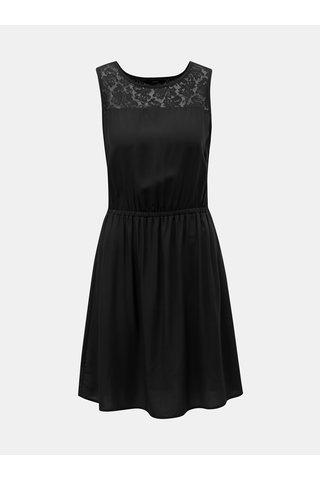 Černé šaty s krajkou VERO MODA Boca
