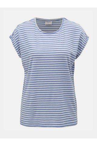 Bílo-modré pruhované basic tričko VERO MODA AWARE Ava