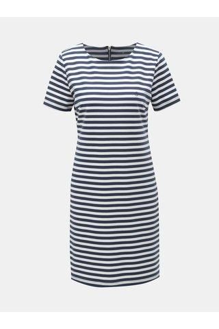 Bílo-modré pruhované šaty Cross Jeans