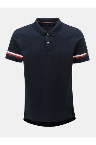 Tmavě modré pánské slim fit polo tričko s potiskem Tommy Hilfiger