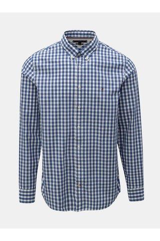 Modrá pánská kostkovaná slim fit košile Tommy Hilfiger