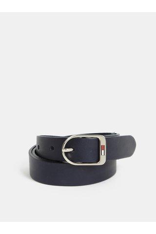 Tmavě modrý dámský kožený pásek Tommy Hilfiger