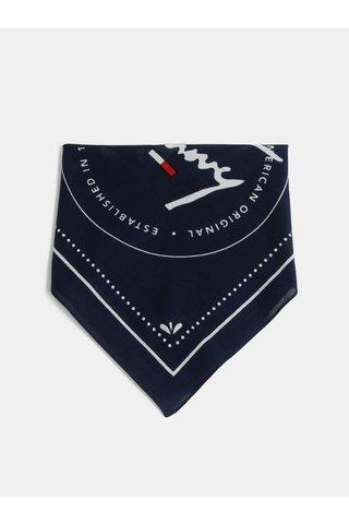Tmavě modrý dámský šátek Tommy Hilfiger