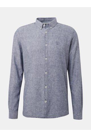 Modrá pánská lněná žíhaná košile Tom Tailor