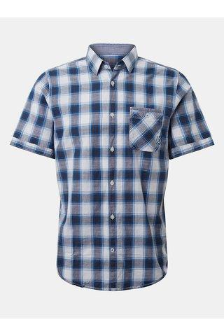 Bílo-modrá pánská kostkovaná košile Tom Tailor