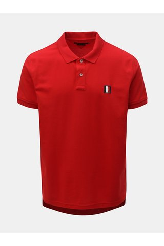 Červené pánské reguar fit polo tričko s nášivkou Tommy Hilfiger