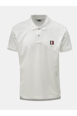 Bílé pánské reguar fit polo tričko s nášivkou Tommy Hilfiger