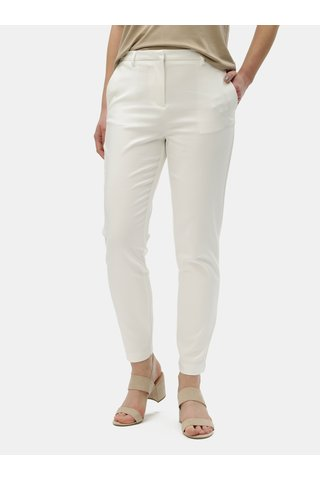 Bílé kostýmové kalhoty VILA Adelia