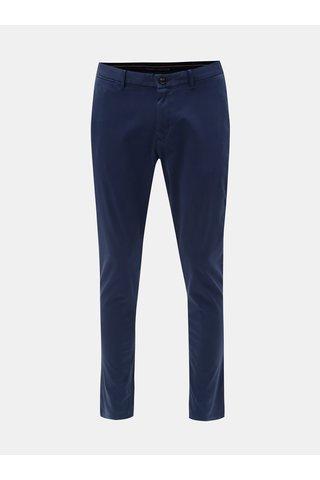 Tmavě modré pánské straight fit chino kalhoty Tommy Hilfiger