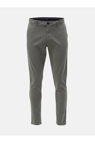 Šedé pánské straight fit chino kalhoty Tommy Hilfiger
