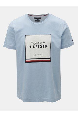 Světle modré pánské tričko s nášivkou Tommy Hilfiger
