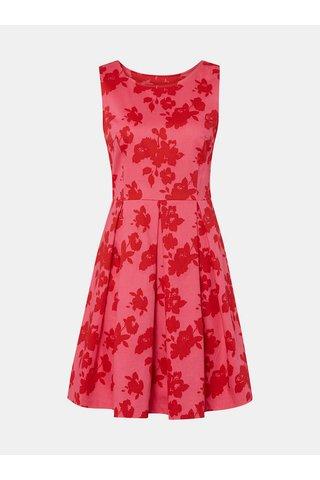 Růžové květované šaty Tom Tailor