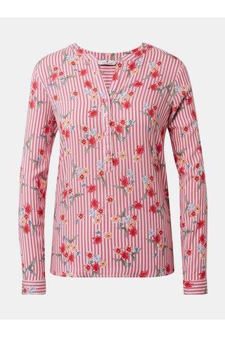 Růžová dámská květovaná halenka Tom Tailor