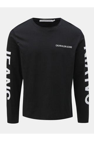 Černé pánské tričko s potiskem na zádech Calvin Klein Jeans