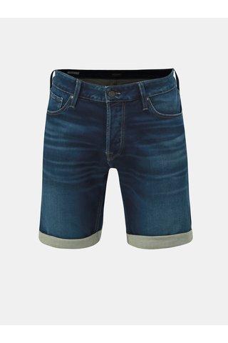 Tmavě modré džínové kraťasy Jack & Jones Rick Jicon