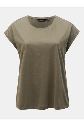 Khaki basic tričko Dorothy Perkins Curve