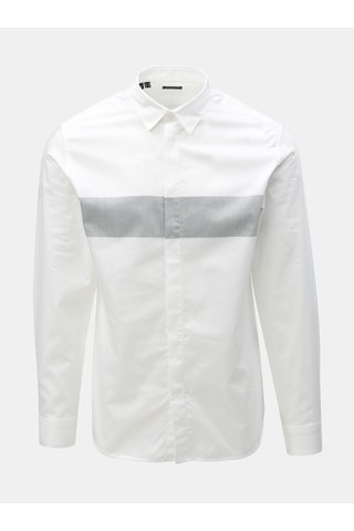 Bílá slim fit košile Selected Homme Block