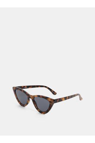 Hnědé vzorované sluneční brýle Pieces Sally