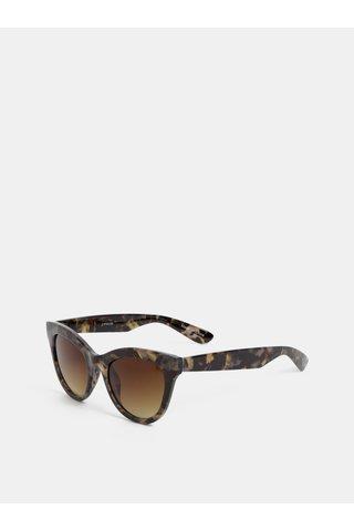 Šedé vzorované sluneční brýle Pieces Sonja