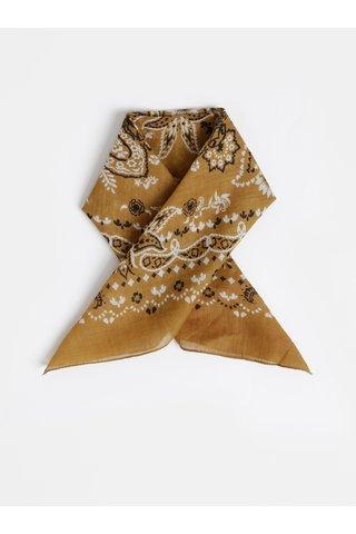 Khaki vzorovaný šátek Pieces Brandy
