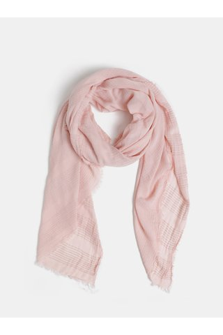Růžový šátek Pieces Christel