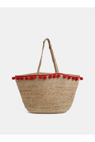 Béžová plážová taška Piecess Becka