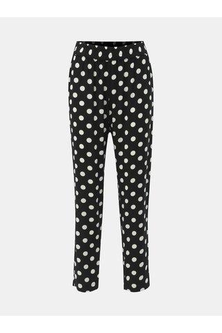 Černé puntíkované kalhoty Jacqueline de Yong Star
