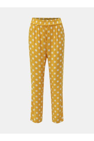 Žluté puntíkované kalhoty Jacqueline de Yong Star