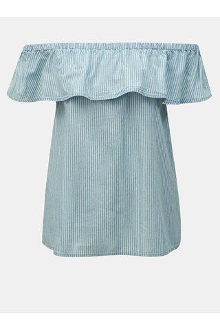 Modrý pruhovaný top s volánem VERO MODA Emilia