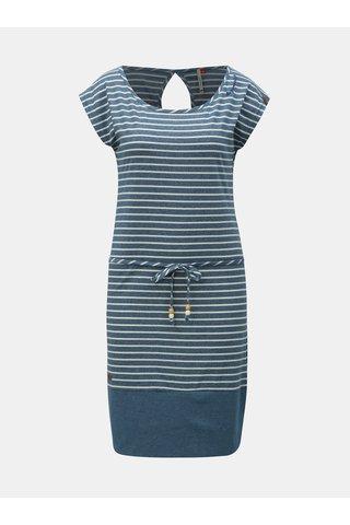 Modré pruhované šaty Ragwear Soho