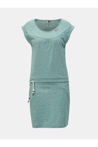 Světle modré vzorované šaty se zavazováním Ragwear Penelope