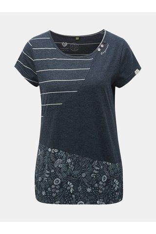 Tmavě modré dámské vzorované tričko Ragwear Taby Block