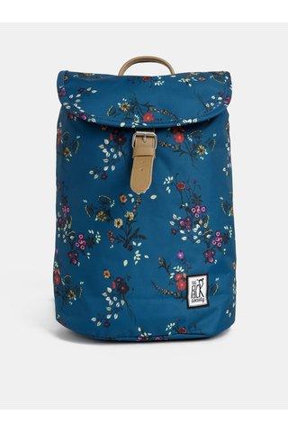 Petrolejový dámský květovaný voděodpudivý batoh The Pack Society 10 l