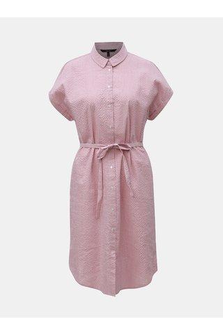 Starorůžové pruhované košilové šaty VERO MODA Jane