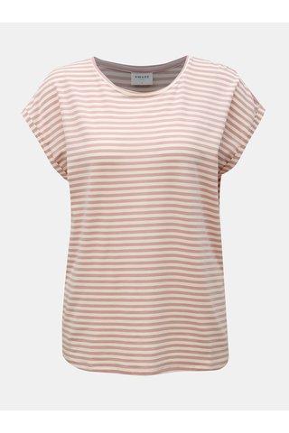 Starorůžové pruhované basic tričko VERO MODA AWARE Ava