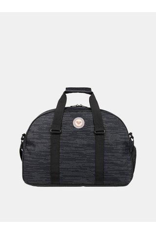 Černá žíhaná sportovní taška Roxy Feel Happy
